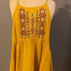 Tops - Embroidered Tie Back Tank Top